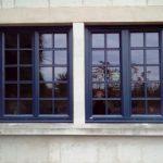 Fenêtre mixte bois/alu avec petits bois collés